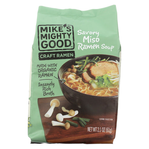 Mike's Mighty Good Soup - Organic - Ramen - Savory Miso - Case of 7 - 2.1 oz