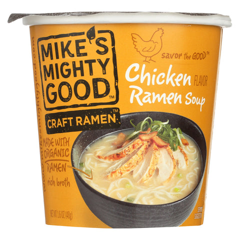 Mike's Mighty Good Soup - Organic - Ramen - Chicken - Cup - Case of 6 - 1.6 oz