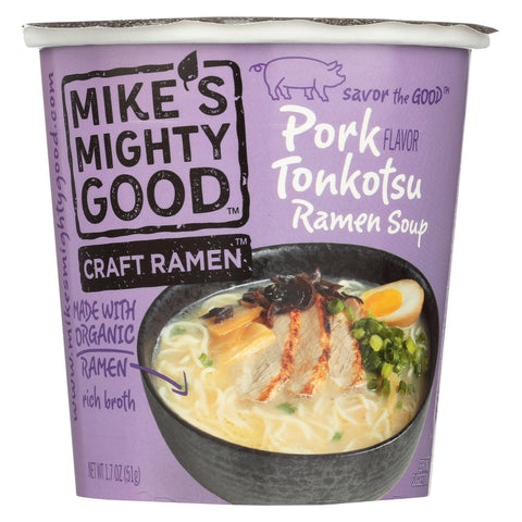 Mike's Mighty Good Soup - Organic - Ramen - Pork - Cup - Case of 6 - 1.7 oz