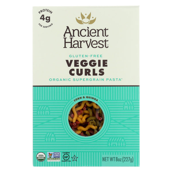 Ancient Harvest Organic Quinoa Supergrain Pasta - Veggie Curls - Case of 12 - 8 oz