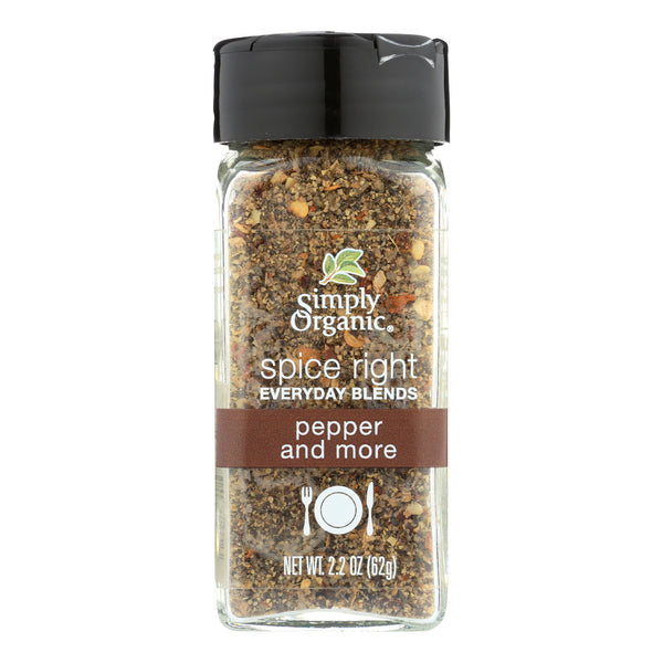 Simply Organic Spice Right Pepper and More - Case of 6 - 2.2 oz.