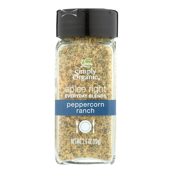 Simply Organic Spice Right Peppercorn Ranch - Case of 6 - 2.5 oz.