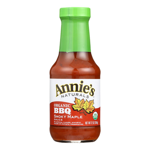 Annie's Naturals Organic Smokey Maple BBQ Sauce - Case of 12 - 12 oz.