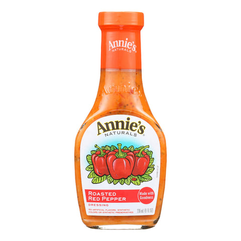 Annie's Naturals Vinaigrette Roasted Red Pepper - Case of 6 - 8 fl oz.