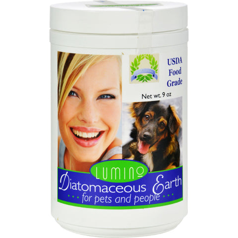 Lumino Home Diatomaceous Earth - Food Grade - Pets and People - 9 oz