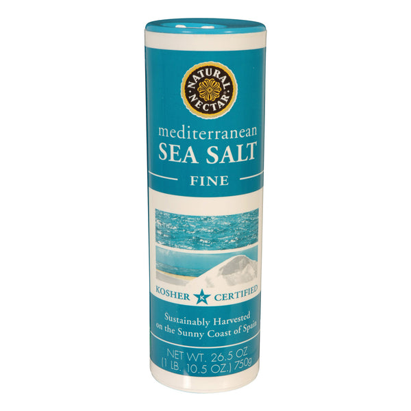 Natural Nectar Mediterranean Sea Salt - Fine - Case of 12 - 26.5 oz.