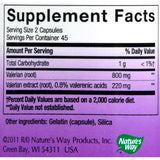 Nature's Way Valerian Standardized - 90 Capsules