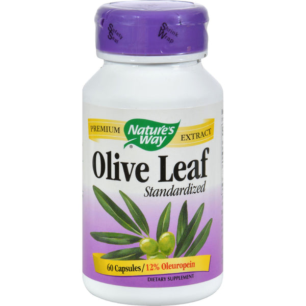 Nature's Way Olive Leaf Standardized - 60 Capsules