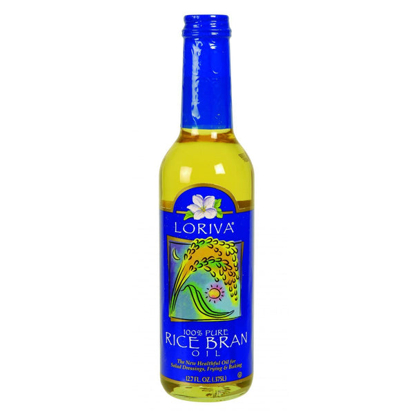 Loriva Rice Bran Oil - 100 Percent Pure - 12.7 oz (Pack of 3)