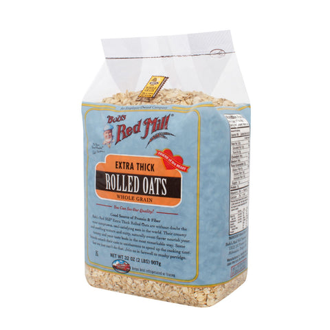 Bob's Red Mill Extra Thick Rolled Oats - 32 oz - Case of 4