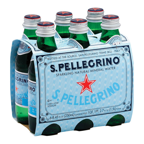 San Pellegrino Sparkling Natural Mineral Water - Case of 4 - 250 ml