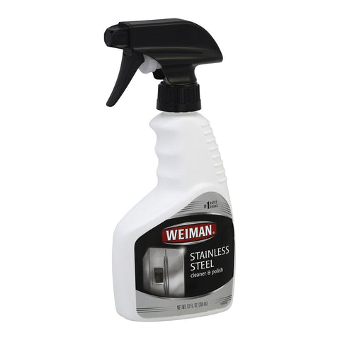Weiman Stainless Steel Cleaner and Polish - Case of 6 - 12 Fl oz.