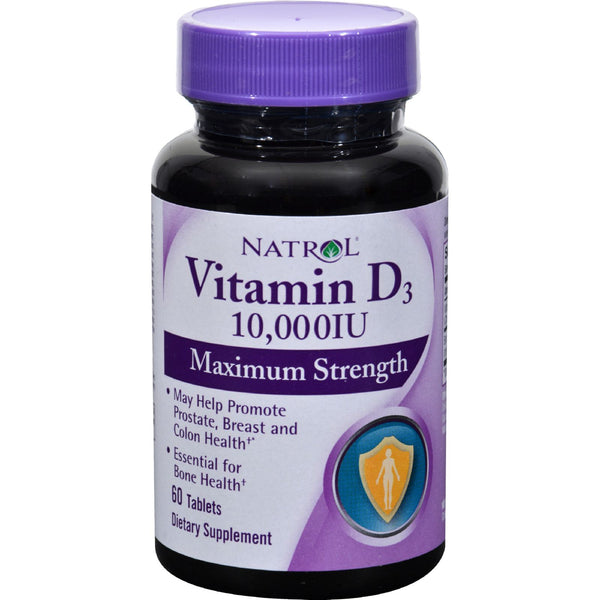 Natrol Vitamin D3 - 10000 IU - 60 Tablets