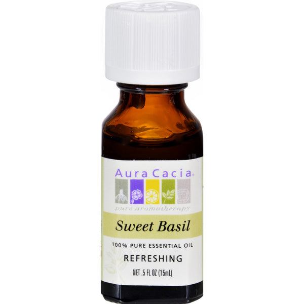 Aura Cacia Pure Essential Oil Sweet Basil - 0.5 fl oz