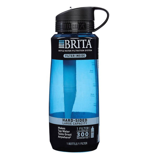 Brita Hard Sided Water Filtration Bottle - Blue - Case of 4 - 1 Count