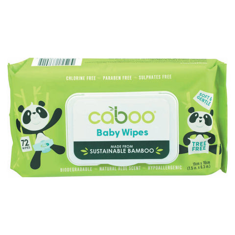 Caboo Baby Wipes - Bamboo - Case of 16 - 72 count