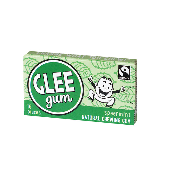 Glee Gum Chewing Gum - Spearmint - Case of 12 - 16 Pieces