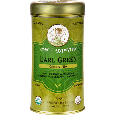 Zhena's Gypsy Tea Earl Green Tea - Case of 6 - 22 Bags