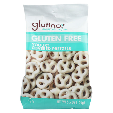Glutino Peppermint pretzels - Yogurt - Case of 12 - 5.5 oz.