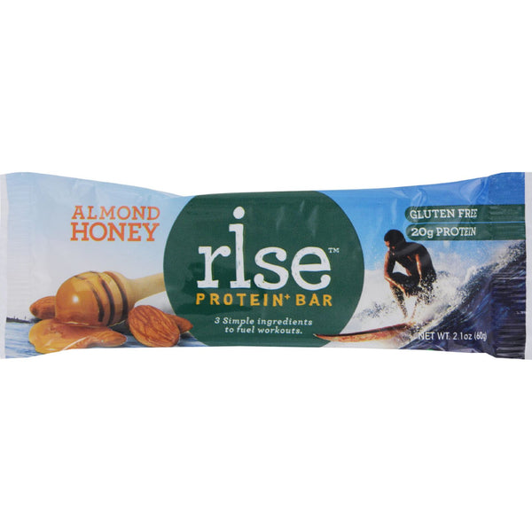 Rise Bar Protein Bar - Almond Honey - Case of 12 - 2.1 oz