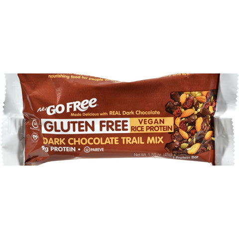 Nugo Nutrition Trail Mix Bar - Gluten Free - Dark Chocolate - Case of 12 - 45 Grams