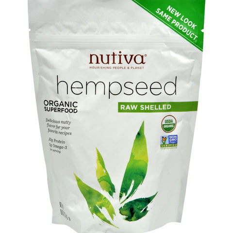 Nutiva Organic Hemp Seed - Raw Shelled - 8 oz
