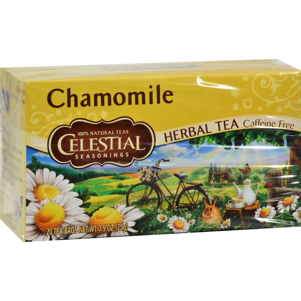 Celestial Seasonings Herbal Tea - Chamomile - Caffeine Free - Case of 6 - 20 Bags