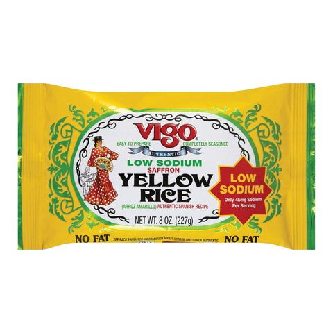 Vigo Yellow Rice - Low Sodium - Case of 12 - 8 oz.