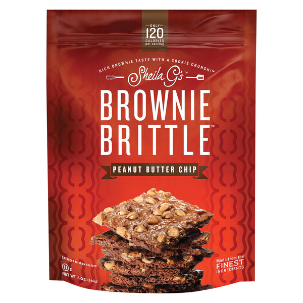 Sheila G's Brownie Brittle - Peanut Butter Chip - Case of 12 - 5 oz.