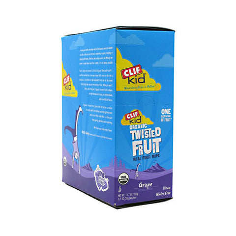 Clif Bar Kid Zfruit - Organic Grape - Case of 18 - .7 oz