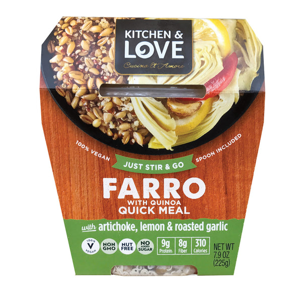 Cucina and Amore Farro - Artichoke - Lemon - Garlic - Case of 6 - 7.9 oz