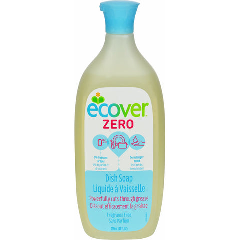 Ecover Dish Soap - Liquid - Zero - Fragrance Free - 25 fl oz - 1 Case