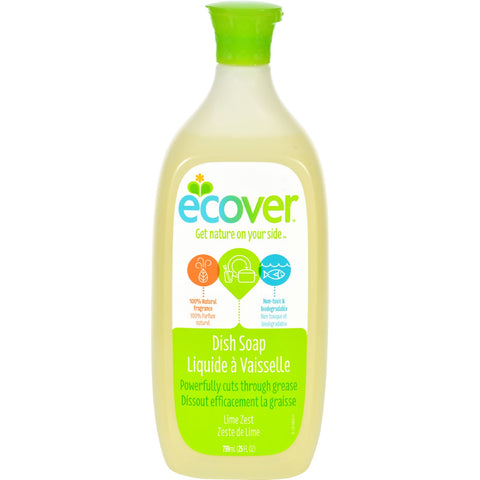 Ecover Liquid Dish Soap - Lime Zest - 25 oz - Case of 6
