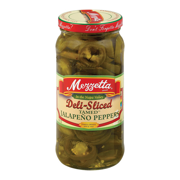 Mezzetta Tamed Diced Jalapeo Peppers - Case of 6 - 16 Fl oz.