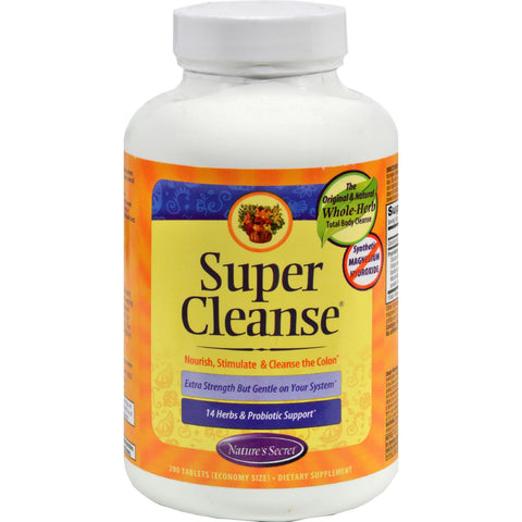 Nature's Secret Super Cleanse - 200 Tablets