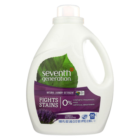 Seventh Generation Natural Laundry Detergent - Blue Eucalyptus and Lavender - Case of 4 - 100 Fl oz.