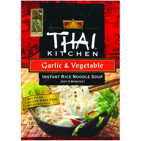 Thai Kitchen Instant Rice Noodle Soup - Garlic and Vegetable - Mild - 1.6 oz - Case of 6