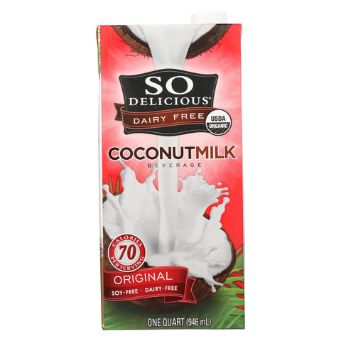 So Delicious Coconut Milk Beverage - Original - Case of 12 - 32 Fl oz.