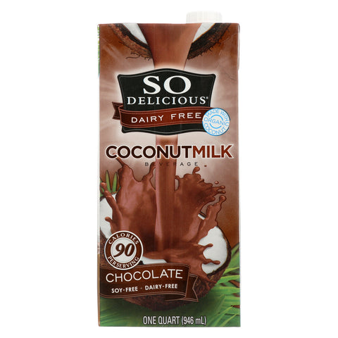 So Delicious Coconut Milk Beverage - Chocolate - Case of 12 - 32 Fl oz.