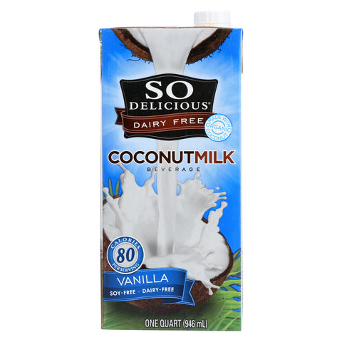 So Delicious Coconut Milk Beverage - Vanilla - Case of 12 - 32 Fl oz.