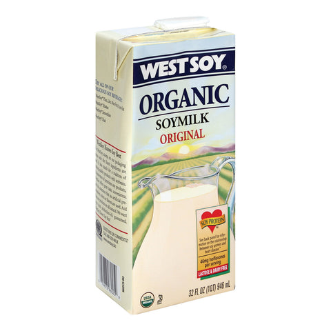 Westsoy Soy Milk - Original - Case of 12 - 32 Fl oz.
