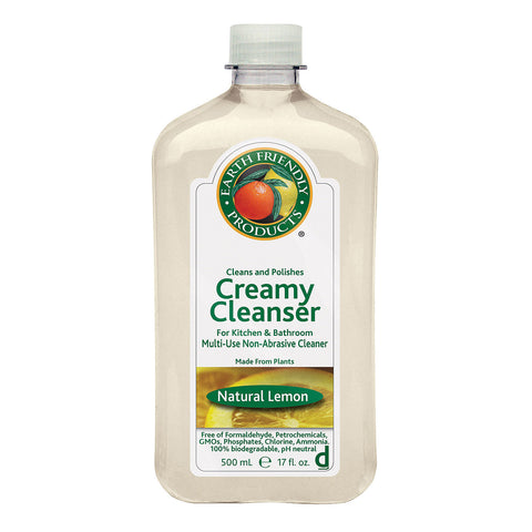 Earth Friendly Lemon Liquid Creamy Cleanser - Case of 6 - 17 FL oz.