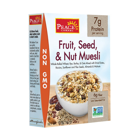 Peace Cereals Muesli - Fruit Seed and Nut - Case of 6 - 14 oz.