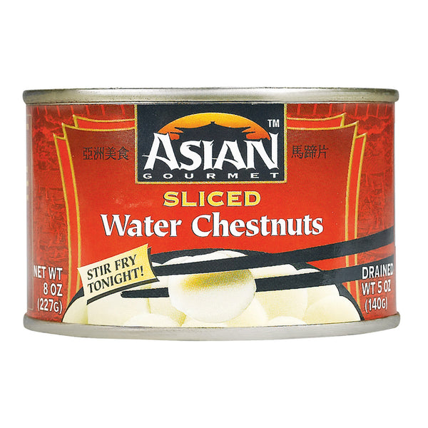 Asian Gourmet Waterchestnuts - Sliced - Case of 12 - 8 oz