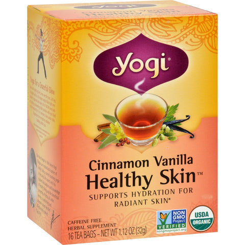 Yogi Teas Cinnamon Vanilla Healthy Skin Tea - 16 Tea Bags - Case of 6