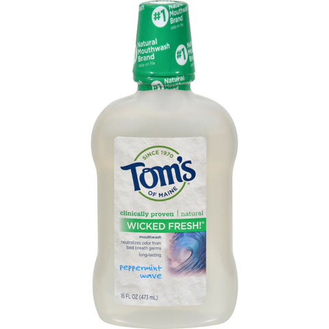 Tom's of Maine Wicked Pepermint Mouthwash - 16 oz