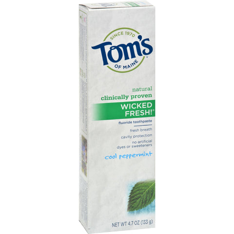 Tom's of Maine Wicked Fresh Toothpaste Cool Peppermint - 4.7 oz - Case of 6