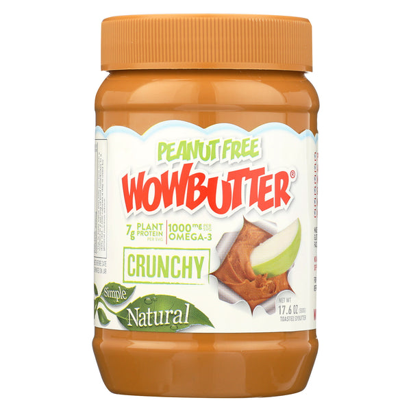 WOWBUTTER Crunchy Peanut Free Spread - Case of 6 - 17.6 oz.