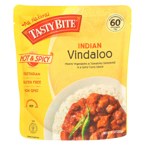 Tasty Bite Heat & Eat Indian Cuisine Entre - Hot & Spicy Vindaloo - Case of 6 - 10 oz
