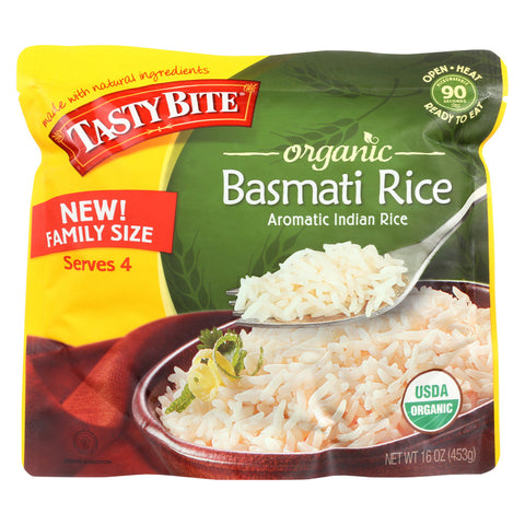 Tasty Bite Organic Basmati Rice - Family Size - Case of 6 - 16 oz.
